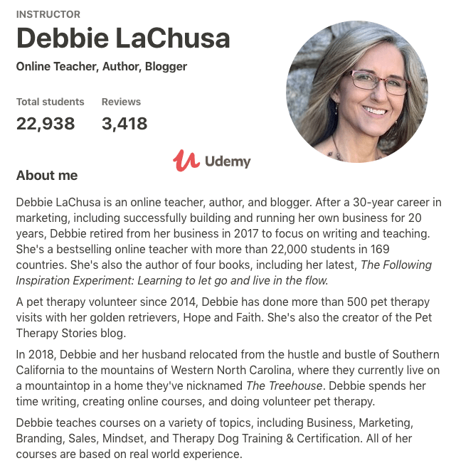 teach online course instructor debbie lachusa