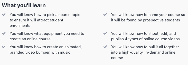 teach online course objectives